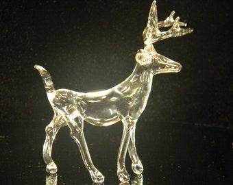 Small glass deer