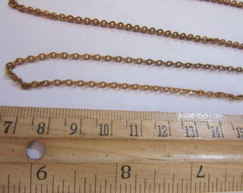 12 feet of 1950s 3mm   POLISHED  #4, raw BRASS Chain, vintage fifties, Chain,  jewelry supply, necklaces, bracelets, , finished jewelry