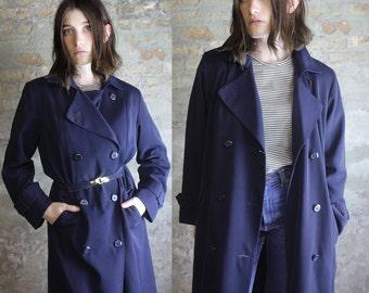 Midnight Blue Trench Coat