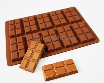 10 cell 6 Section Chocolate Bar 27g Candy Professional Chocolatiers Silicone Mould Mold N079