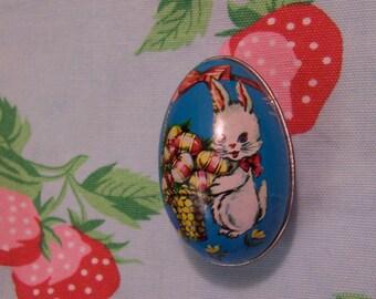 tiny tin bunny egg