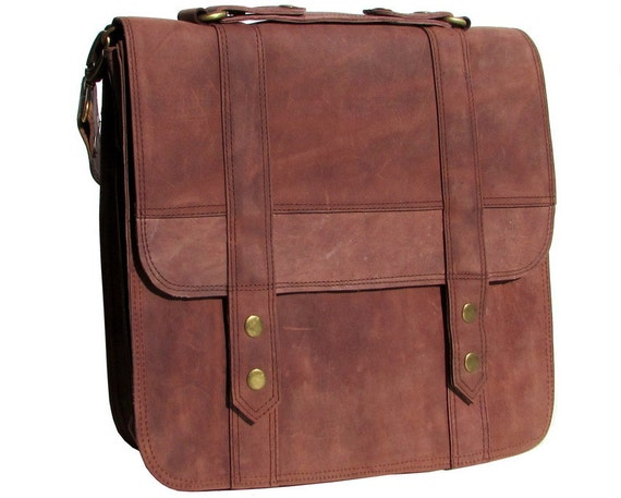 leather messenger bag laptop bag 13 inch macbook pro by