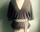 Snake Skin Series, Cropped Cashmere Poncho