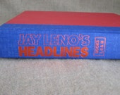 Vintage Jay Leno's Headlines Hardcover Book / Jay Leno's Headlines - Books 1, 2 & 3