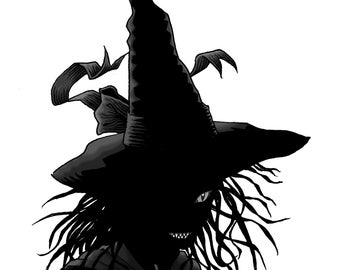 NETTLE, THE WITCH original 8x10 art print by Tommy Kovac