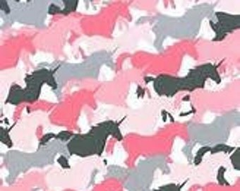 Michael Miller Unicorn Herd Girl Fabric - 1 yard