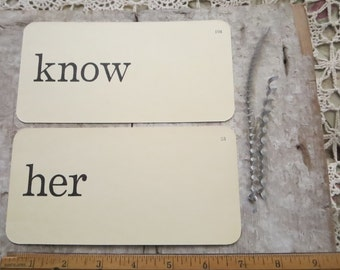 flash cards ~ know her