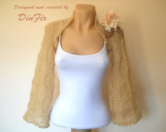 LIQUIDATION Stock SALE 30% OFF Bolero Shrug Wedding Bridal Accessories Hand Knitted Cape Lace Women Capelet Cardigan Jacket Elegant Crochet