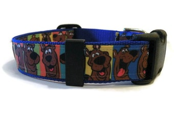 Scooby Doo dog collar. FREE Custom Engraved Tag with every collar.