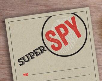 SUPER SPY INVITATION // 5x7 // Printable Birthday Party Invite
