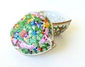 Porcelain Heart Trinket Box Herend Openwork Heart Box Potpourri Bowl Valentines Gift