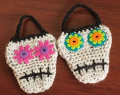 CROCHET PATTERN, Crochet Skull, Halloween Crochet Pattern, Sugar Skull-Instant Digital Download (37)