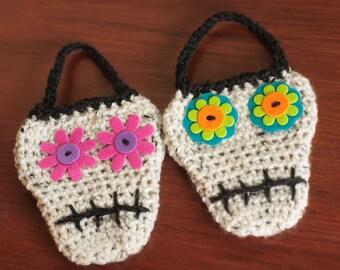 CROCHET PATTERN, Crochet Skull, Halloween Crochet Pattern, Sugar Skull-Instant Digital Download (37)