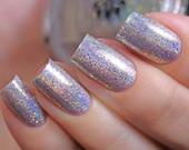 "Nail polish - ""Stockpile"" silver linear holographic"