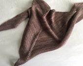 Beautiful Neutral Hand Knit Shawl