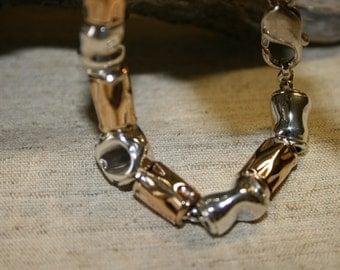 Silver Bracelet ,  Sterling Bracelet , Goldfield Bracelet , Handmade Bracelet, Silver Beads Bracelet