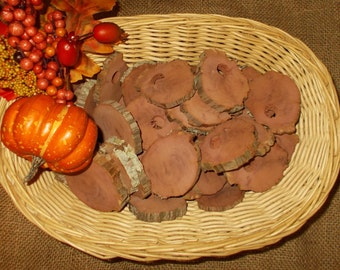 39 Red Cedar Heartwood Slices - Aromatic Display, Closet, Drawers, Crafts  FREE SHIPPING!!!