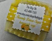 Heavenly Lemon Sugar handmade soap