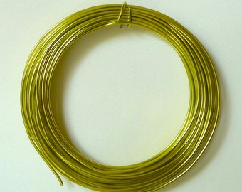 WHOLESALE - Apple Green Aluminum Wire - 12 gauge wire - 2mm wire - Qty 39 feet - WHOLESALE