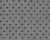 Black and Grey Swiss Dot Chambray, Swiss Dot Chambray Collection by Robert Kaufman, 1 Yard