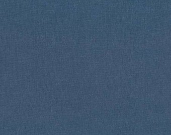 Pacific Blue Washable Yarn Dyed Linen, Brussels Washer Linen Collection By Robert Kaufman, 1 Yard