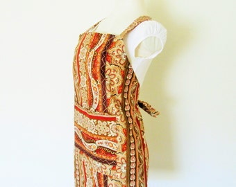 Adult Apron - A Unique Paisley Print - A fun apron to cook or create in....also a great painting apron