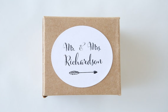Personalised MR & MRS stickers | Labels, Engagement, Typography, Minimalist, Bonbonerie, Favours, Party, Gifts, Modern