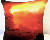 Sunset Picture Pillow, Sunset Photo Cushion, Pretty Photo Pillow, Pillow with Sunset, Beach Cottage Pillow, Unique Art Pillow