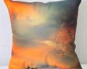 Cloud Photo Pillow, Designer Pillow, Couch Pillow, Heavenly Pillow Cover, Accent Pillow, Photo Pillow, Pillow with Clouds, Fine Art Pillow