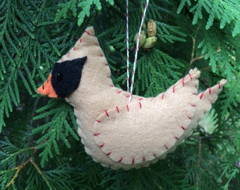 Felt Female Cardinal Ornament