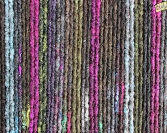 Witch Crochet Synthetic Dreads DE x24 - brown black purple grey yellow blue pink
