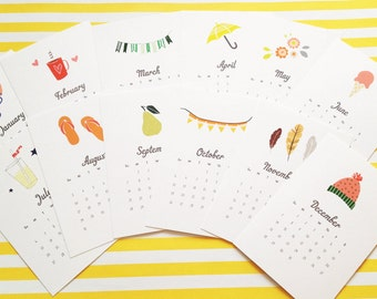 2016 Desk Calendar - 12 months of adorable illustrations - as seen on LaurenConrad.com