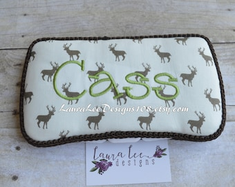 Brown Deer Boutique Style Travel Wipe Case, Personalized Wipes Case, Diaper Wipe Case, Nappy Wipe Case, Wet Wipe Case, Boy Wipe Case