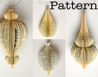DIY Pattern or template for cutting 4 hanging ornaments