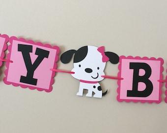 Pink Puppy Happy Birthday Banners Puppy Dog