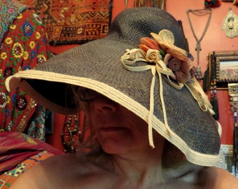 Fabulous Mona the Mad Hatter Straw Hat