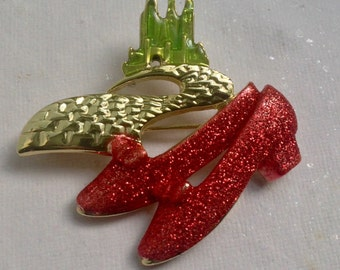Dorothy's Red Shoes Pin