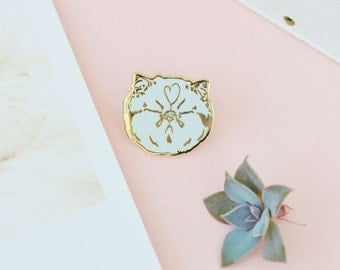 BLAH cat pin - kitty - meme enamel lapel pin