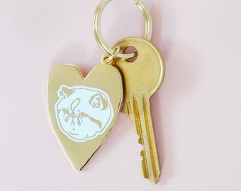 Sad Cat's Clubhouse Keychain