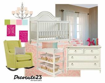 Nursery Interior Design, E-Interior Design, Online Interior Design, Home Decor, Affordable Interior Design Service, DIY Interior Design