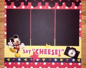 Mickey Mouse Scrapbook Page, Mickey Mouse Birthday, Premade Mickey Mouse Scrapbook, Disney Scrapbook Page, Disney World Scrapbook Page