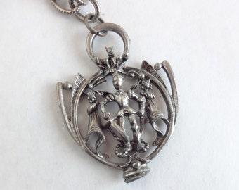 Knight in Regalia Pendant Necklace