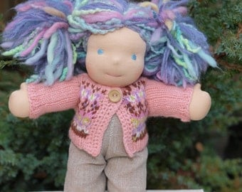 "Waldorf Doll Clothes -Waldorf Doll Colorful Sweater , fit 10"" inch dolls"