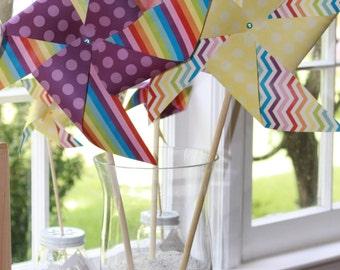 Paper Pinwheels Wedding Pinwheels Baby Shower Favors Party Favors Birthday Favors Large Pinwheels Spinning Pinwheels Dr. Suess Pinwheels