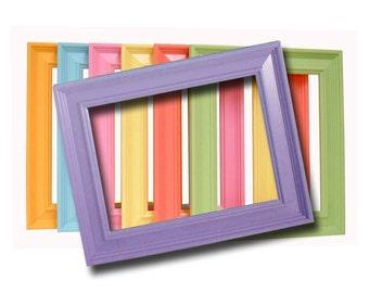 Picture Frames 8x10 Wood Frames Custom Colors Wall Art Prints Frames Nursery Decor Modern Home 8x10 Picture Frame