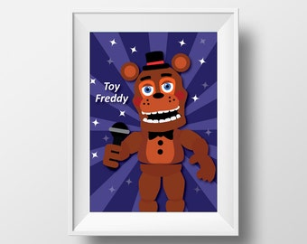 Five Nights at Freddy's Toy Freddy Inspired Printable Wall Art