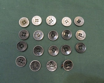 19 Sunbury Trousers metal buttons - lot #22