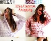 7 Cotton Robe, Turkish Bath Robe ,Turkish Towel Bathrobe, Beach Kimono , Beach Cover Up, Kimono Robe, Summer Beach Kimono,Bridesmaid Favor