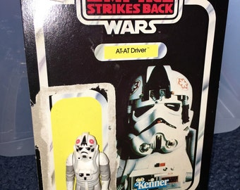 1983 vintage Star wars Empire strikes back AT-AT Driver action figure with no weapon and card back