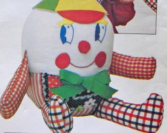 70s Stuffed Toy Pattern Humpty Dumpty Butterick 4424 Bonnie's Bundles UNCUT